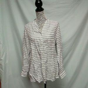 Coldwater creek linen blouse